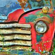 Colorful Vintage Truck Poster