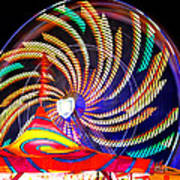Colorful Wheel Of Lights Poster