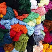Colorful Yarn Otavalo Market Ecuador Poster