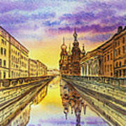 Colors Of Russia St Petersburg Cathedral I Poster by Irina Sztukowski
