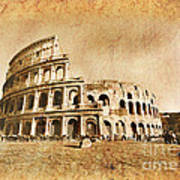 Colosseum Grunge Poster
