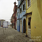 Coloured Houses In Burano Poster
