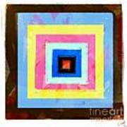 Coloured Squares Number 1 Poster