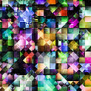 Colourful Fractal Jewels Poster