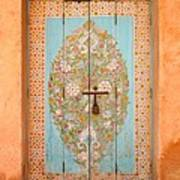 Colourful Moroccan Entrance Door Sale Rabat Morocco Poster