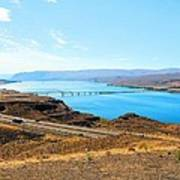 Columbia River From Overlook Poster