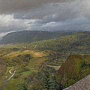 Columbia River Gorge View From Crown Point Poster