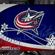 Columbus Blue Jackets Christmas Poster