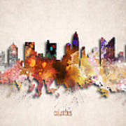 Columbus Painted City Skyline Poster