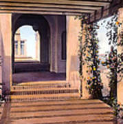 Columns And Flowers Poster by Terry Reynoldson
