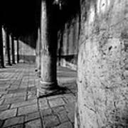 Columns At The Church Of Nativity Poster