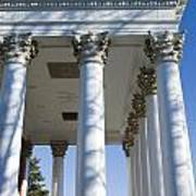 Columns Facing The Lawn Of The Rotunda Poster