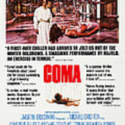 Coma, Left Genevieve Bujold On Poster Poster
