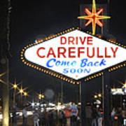 Come Back Soon Las Vegas  Poster by Mike McGlothlen