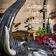 Come On Let's Celebrate Poster by Kathy Clark