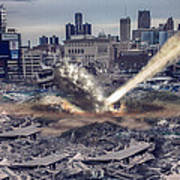 Comerica Park Asteroid Poster