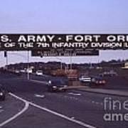 Fort Ord  Commander  Major General Marvin L. Covault  7th Infantry Division 1992 Poster