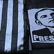 Commercialization Of The President Of The United States In Cyan Poster