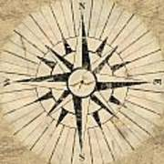 Compass Face Poster