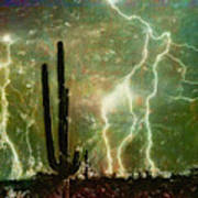 Computer Generated Image Of Lightening Poster