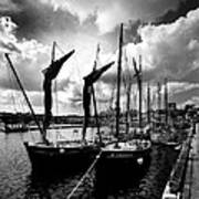 Concarneau Harbour Brittany France Poster