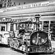 Conch Tour Train 2 Key West - Square - Black And White Poster
