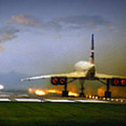 Concorde Takeoff Poster