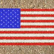 Concrete Flag Poster