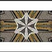 Concrete Flowers - Kaleidoscope - Pentaptych Poster