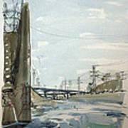 Concrete Los Angeles River Poster