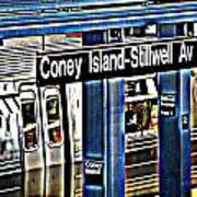 Coney Island Train Station Poster