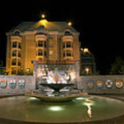Confederation Fountain In Victoria Bc With Code Of Arms Poster