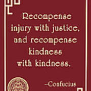 Confucius On Kindness Poster