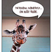 Confused Giraffe Poster