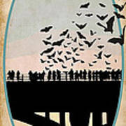 Congress Avenue Bridge Bats Poster