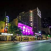 Congress Street In Downtown Austin Poster