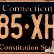Connecticut License Plate Poster