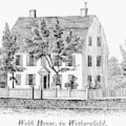 Connecticut Webb House Poster