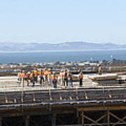 Construction Continues On The Last Few Feet Of The New Oakland Bay Bridge Poster