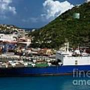 Container Ship St Maarten Poster