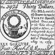 Continental Banknote, 1775 Poster