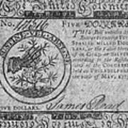 Continental Currency, 1775 Poster