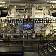 Control Board Engine Room Queen Mary Ocean Liner Long Beach Ca Poster