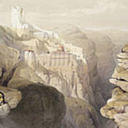 Convent Of St. Saba, April 4th 1839 Poster