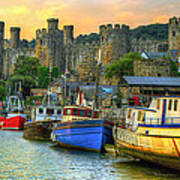 Conwy Castle And Harbour Poster
