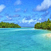 Cook Islands Lagoon Poster