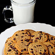 Cookies - Milk - Chocolate Chip - Baker Poster by Andee Design