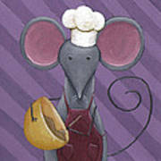 Cooking Mouse Kitchen Art Poster