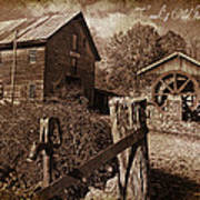 Cook's Old Mill 1857 Poster