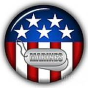 Cool Marines Insignia Poster by Pamela Johnson